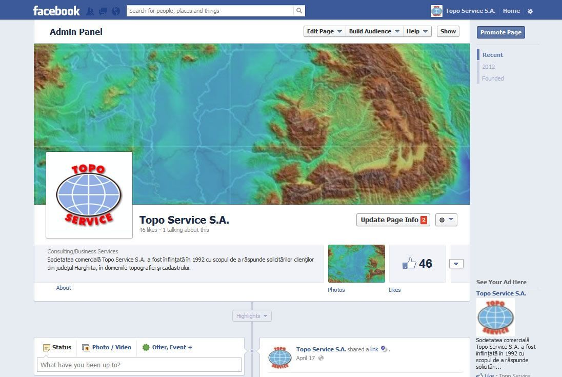 TopoService Facebook page