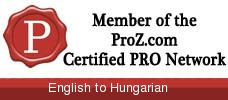 Certified PRO translator member of proz.com network